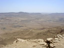 I walked the length of Maktesh Ramon, a natural crater, over two days.