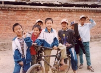 These boys gave me a tour of their village and local temple.
